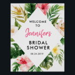 "Tropical Leaves Bridal Shower Welcome Poster<br><div class=""desc"">Custom Tropical Leaves Bridal Shower Welcome Poster for your wedding day!</div>"