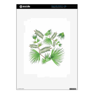 Tropical Leaves Decal For The iPad 2
