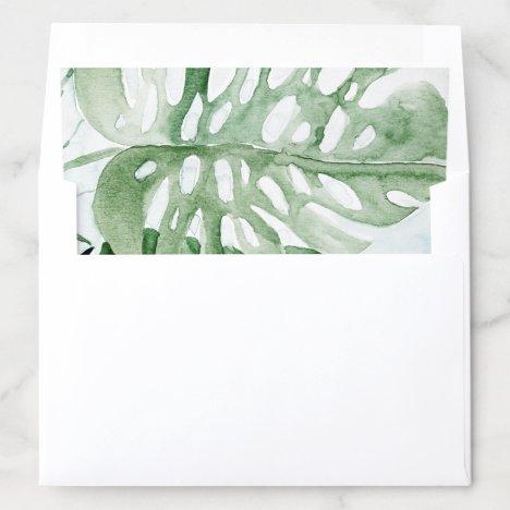 Tropical Leaves Envelope Liner