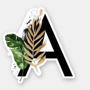 Tropical Leaves Laptop Stickers Skins Zazzle #tropical #leaf #plant #aesthetic #ftestickers sticker by arminé. tropical leaves laptop stickers skins