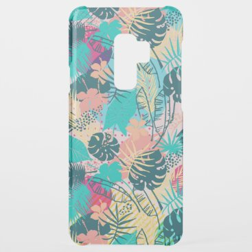 Tropical leaves & flowers collage pattern uncommon samsung galaxy s9 plus case