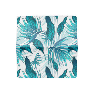 Tropical Leaves in Teal Checkbook Cover