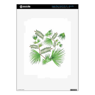 Tropical Leaves iPad 3 Decals
