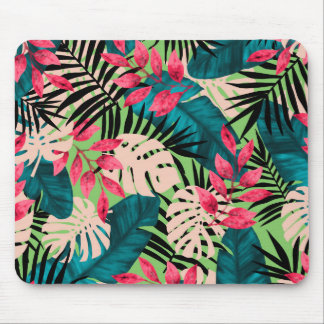 Tropical Leaves Pattern Mouse Pad