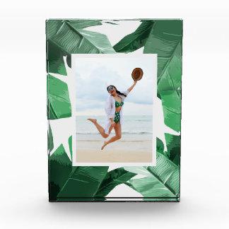 Tropical Leaves Photo Block Frame