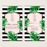 Tropical Leaves & Pineapple Elegant Refer a Friend Business Card
