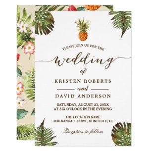 Tropical Wedding Invitations Zazzle
