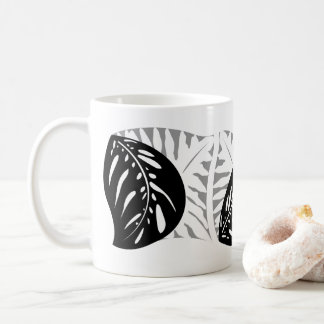 Tropical Leaves Single Tessellations Mug