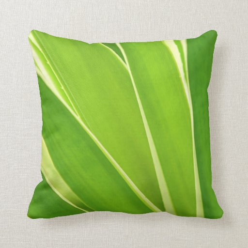 Tropical leaves throw pillow Zazzle