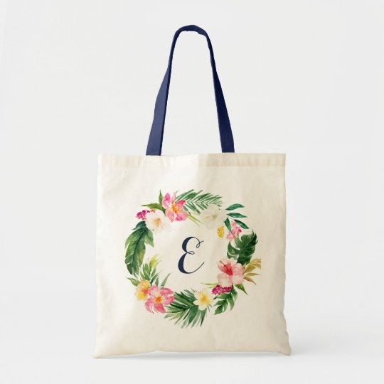 tropical leaves tote bag personalized tote bag zazzle com