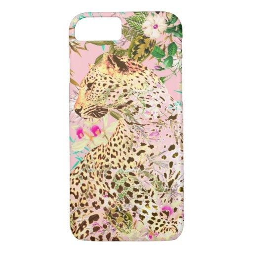 Tropical leopard print floral Hawaiian iPhone 8/7 Case