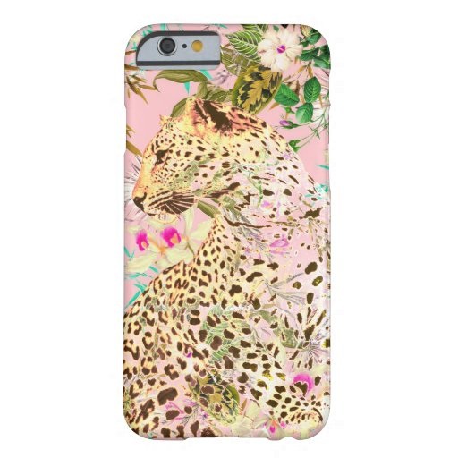Tropical leopard print floral Hawaiian Barely There iPhone 6 Case