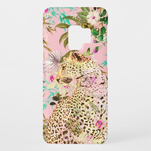 Tropical leopard print floral Hawaiian Case-Mate Samsung Galaxy S9 Case