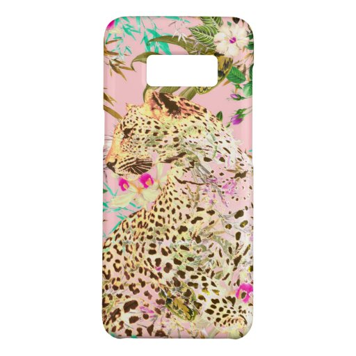 Tropical leopard print floral Hawaiian Case-Mate Samsung Galaxy S8 Case