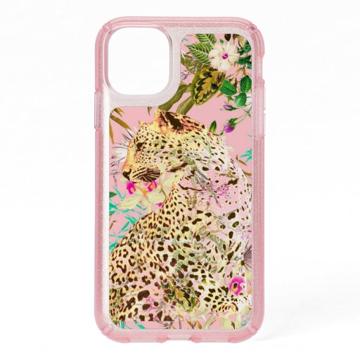 Tropical leopard print floral Hawaiian Speck iPhone 11 Case