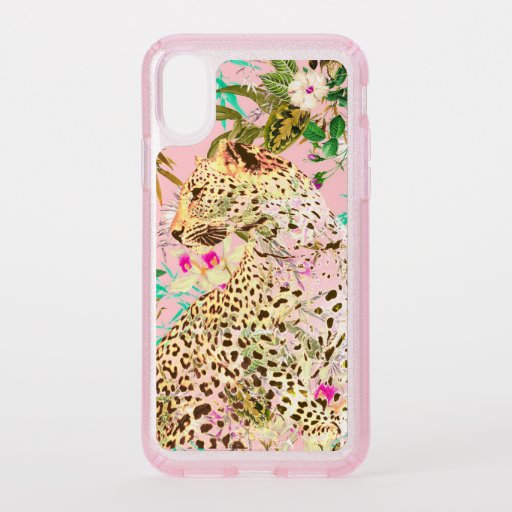Tropical leopard print floral Hawaiian Speck iPhone X Case