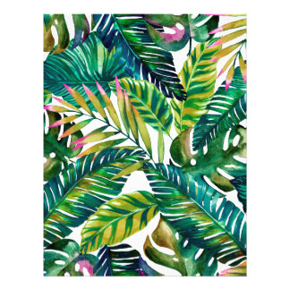 tropical letterhead