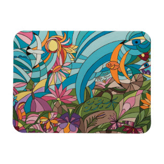 Tropical life decorative panneau magnet