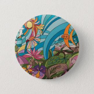 Tropical life pinback button