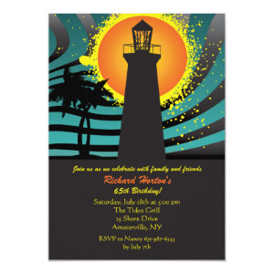 Tropical Lighthouse Invitation 5