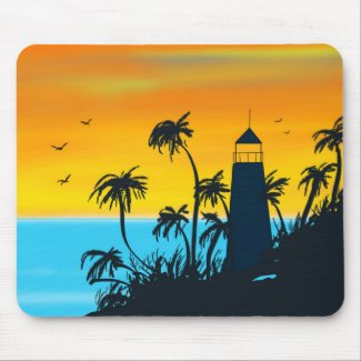 Tropical Lighthouse Mousepad
