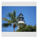Tropical Lighthouse Poster