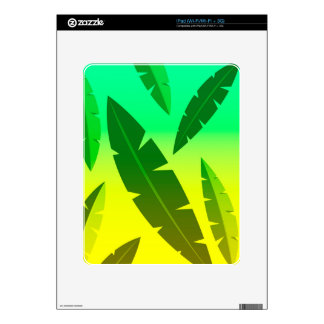 tropical lime decals for iPad