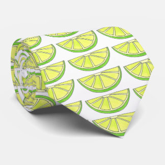 Tropical Lime in the Coconut Fruit Island Beach Neck Tie
