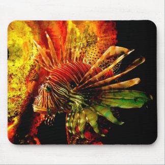 Tropical Lionfish Photo Art Mouse Pad