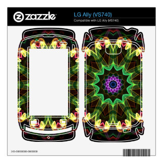 tropical lotus Kaleidoscope Decal For The LG Ally