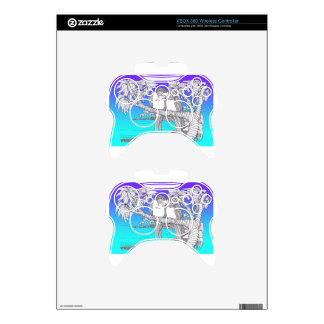 Tropical Love Birds in Paradise Blues Xbox 360 Controller Skins