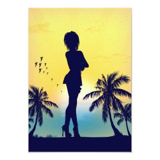 tropical love card