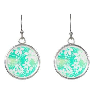Beach Themed Tropical love earrings