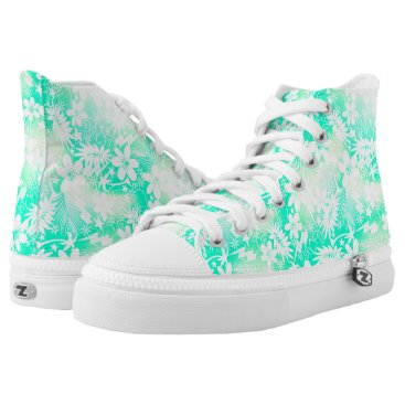 Beach Themed Tropical love High-Top sneakers