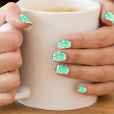 Beach Themed Tropical love minx nail art