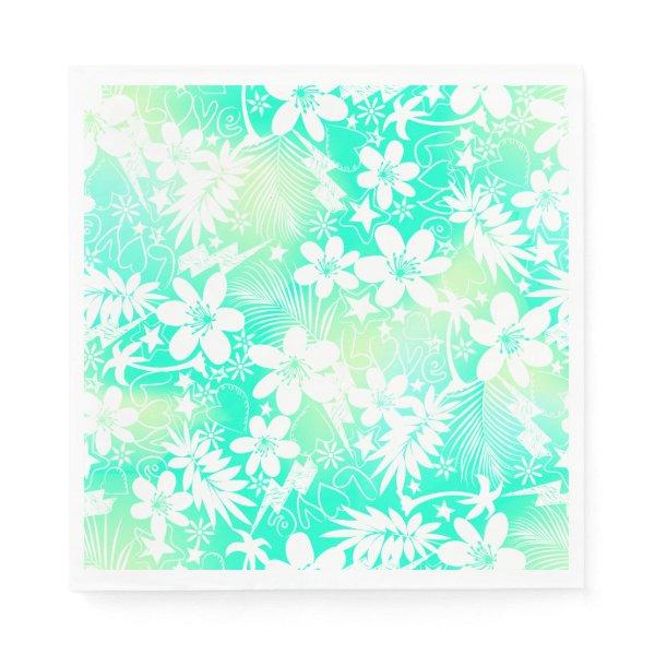 Tropical love napkin