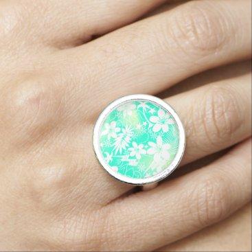 Beach Themed Tropical love ring