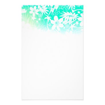 Beach Themed Tropical love stationery