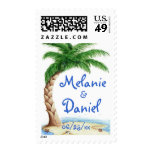 Tropical Love Wedding Postage Stamp