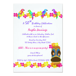 Tropical Luau 5x7 Paper Invitation Card