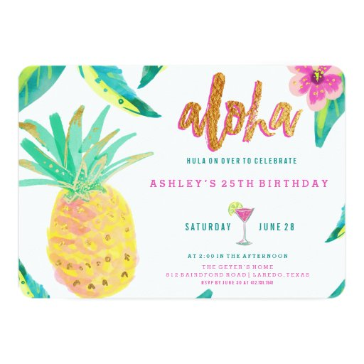 tropical luau birthday invitation   Zazzle