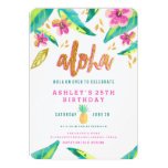 Tropical Luau Birthday Invitation at Zazzle