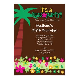 luau birthday party invitations  announcements  zazzle, Birthday invitations