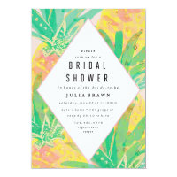 TROPICAL LUAU bridal shower invitation