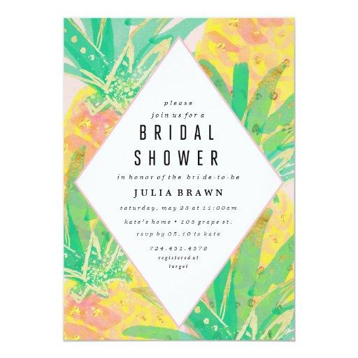 TROPICAL LUAU bridal shower invitation | Zazzle