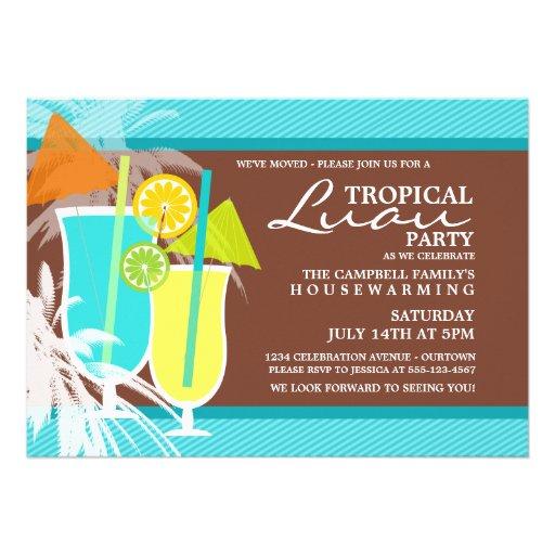 Tropical Luau Housewarming Party Invitations