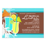 "Tropical Luau Housewarming Party Invitations 5"" X 7"" Invitation Card"