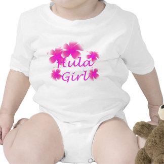 Tropical Luau Hula Girl Floral Infants Creeper