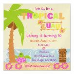 "Tropical Luau Invitation 5.25"" Square Invitation Card"