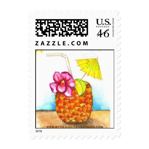 Tropical Luau - Invitations postage